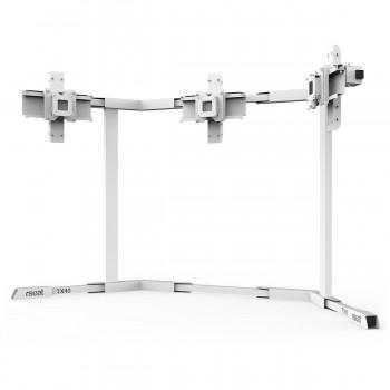 TV STAND TX40 Blanc - TV Stand Support Triple écran 27 à 40 Pouces