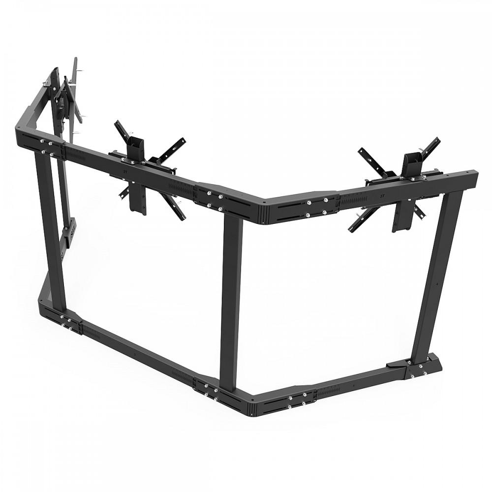 TV STAND TX60 Noir - TV Stand Support Triple écran 43 à 60 Pouces