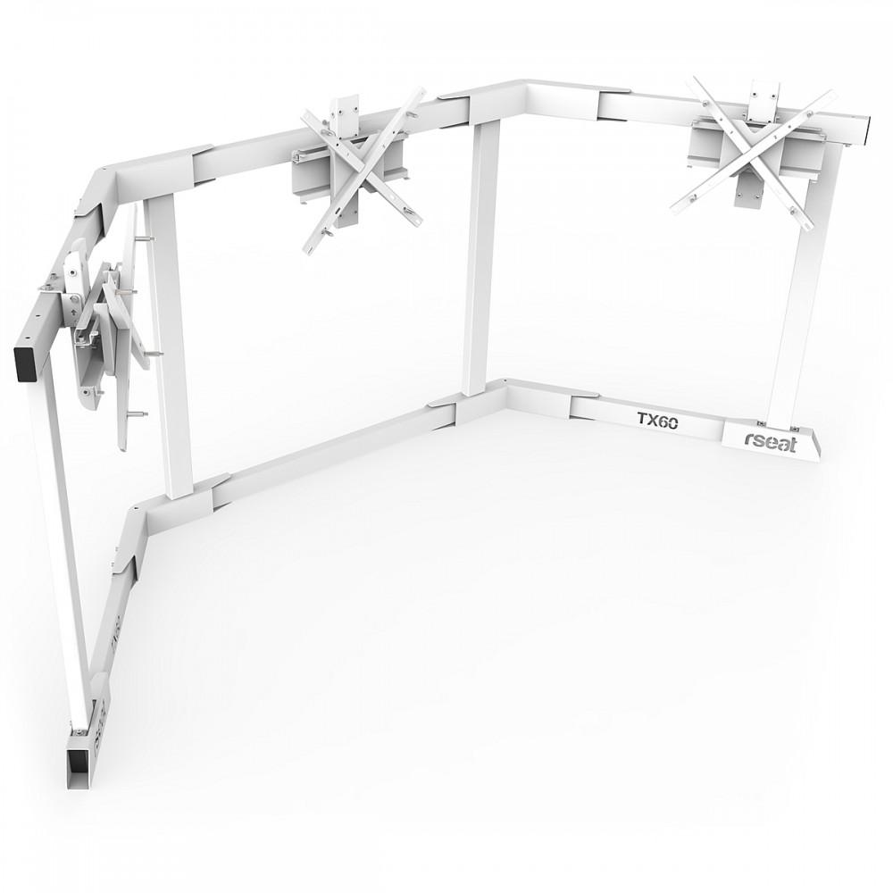 TV STAND TX60 Blanc - TV Stand Support Triple écran 43 à 60 Pouces