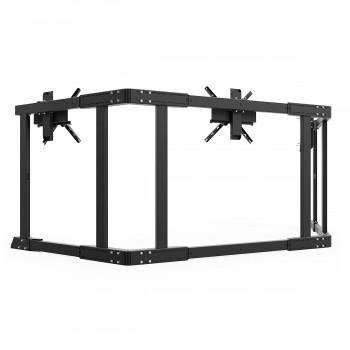 TV STAND TX90 Noir - TV Stand Support Triple écran 65 à 90 Pouces
