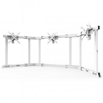 TV STAND TX90 Blanc - TV Stand Support Triple écran 65 à 90 Pouces
