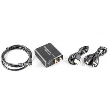 Convertisseur audio digital pour convertir signal numérique SPDIF Coaxial optique en analogique USB