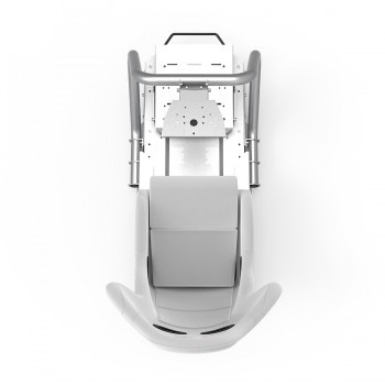 S1 Blanc Châssis Argent