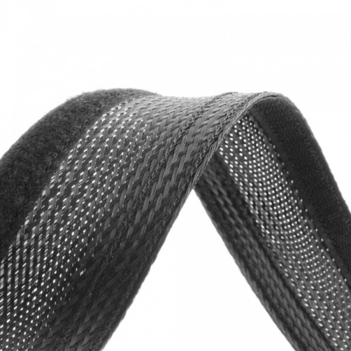 GAINE TRESSEE EXTENSIBLE 18 à 31mm Flexo Wrap noir au mètre