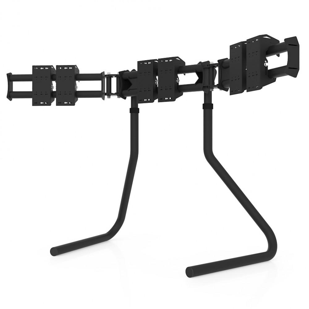 """RS STAND T3L Black V2- Support Triple écrans jusqu'à 3x32"""""""