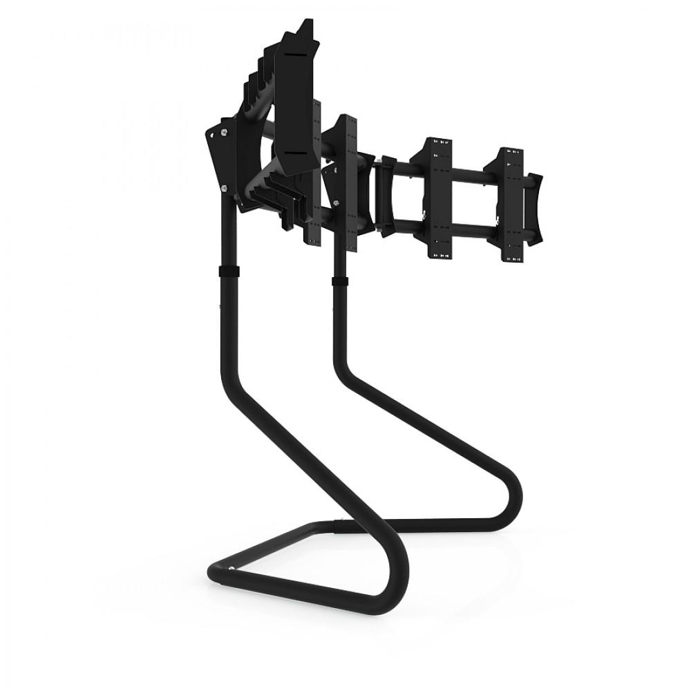 """RS STAND T3XL Noir V2 - Support Triple écrans jusqu'à 3x47"""""""
