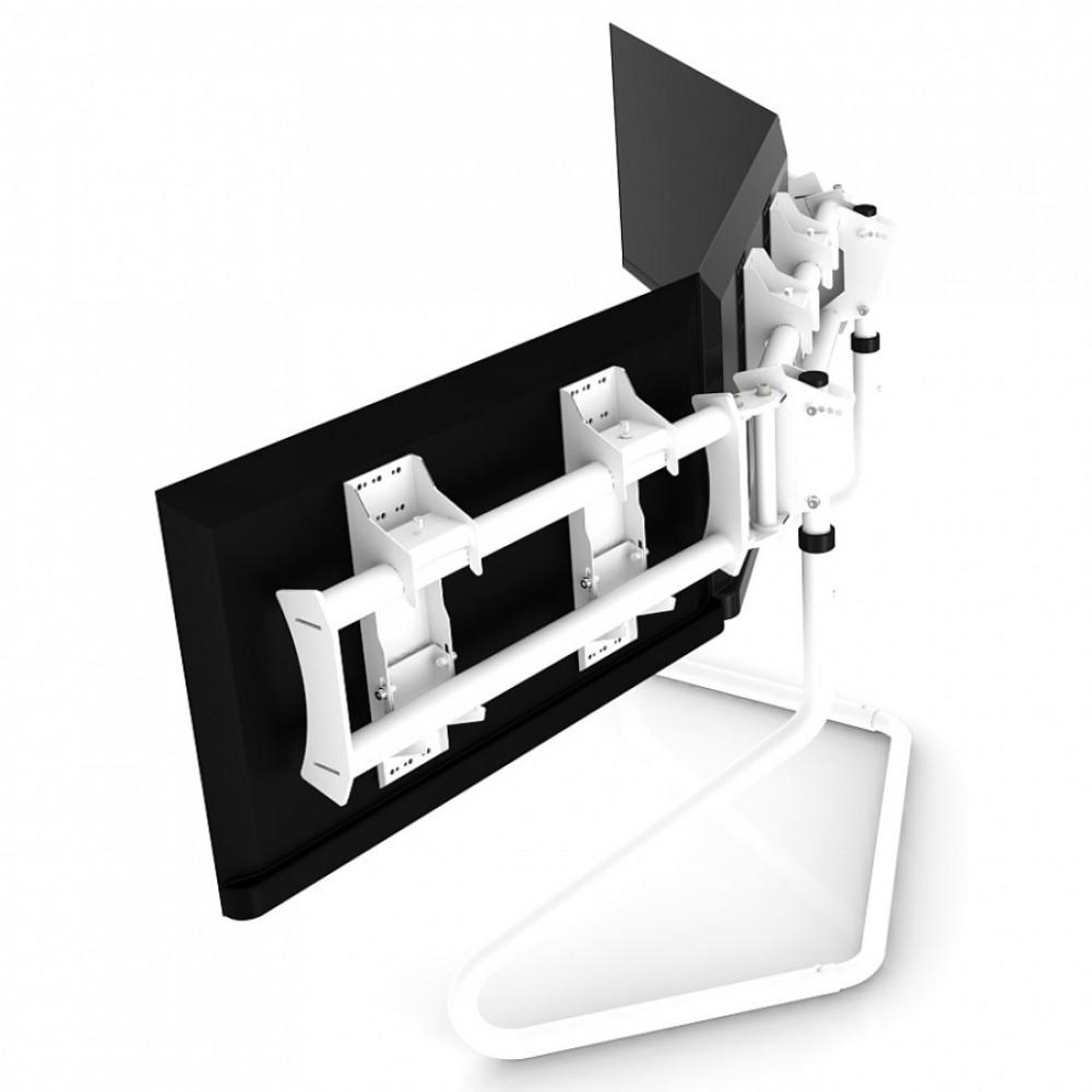 """RS STAND T3XL Blanc V2- Support Triple écran jusqu'à 3x47"""""""