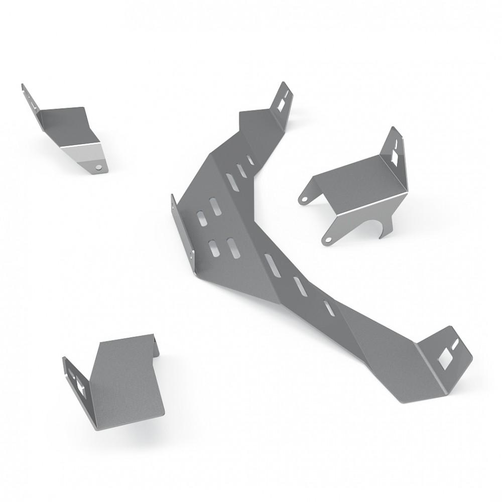 Support kit haut parleur gris métallisé Logitech Z-906 pour RSeat N1