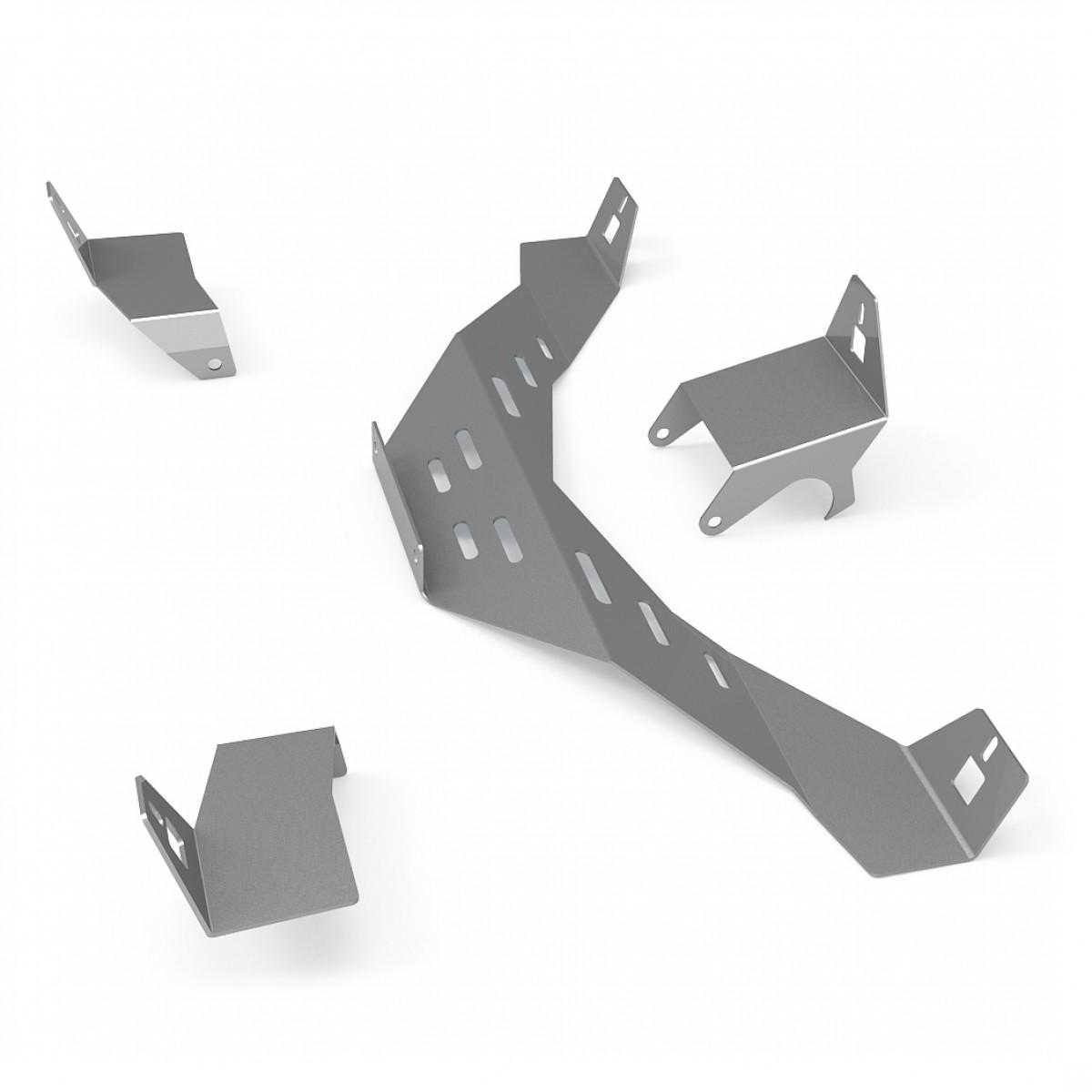Support kit haut parleur Gris métal Logitech Z-906 pour RSeat N1