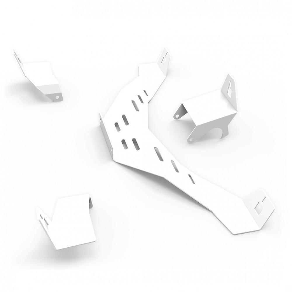 Support kit haut parleur Blanc Logitech Z-906 pour RSeat N1