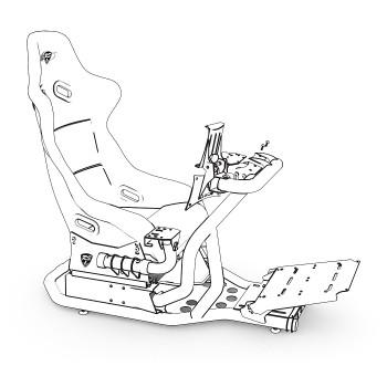 Support Tablette & Buttonbox Blanc pour RS1